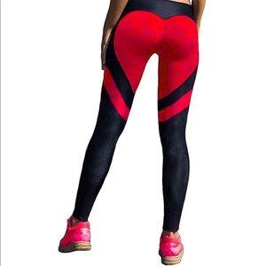 Pants - 0375 Women's Heart Shape Yoga Pants Sport Pants